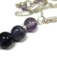 Amethyst Necklace - leafandtendril.com