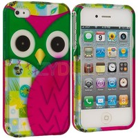 Green Purple Owl Rubberi...