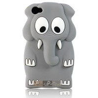 3D Cute Elephat Soft Sil...