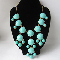 Turquoise Bubble Necklace,holiday P.. on Luulla