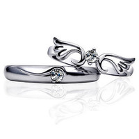 Gullei Trustmart : With You Forever Zircon Couple Rings [T1B531] - &amp;#36;25.00-Couple Gifts, Unique USB Gadgets, Best iPad/iPod/iPhone Covers &amp; Home Decor