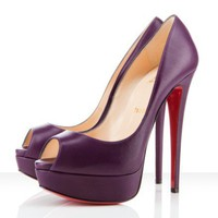 Christian Louboutin Lady Peep 150mm Purple - $184.00