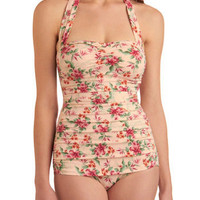 Winter Lily One Piece | Mod Retro Vintage Bathing Suits | ModCloth.com