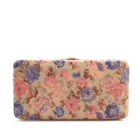 Watercolor Floral Hinge Wallet
