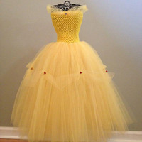 Belle inspired tutu dress  nb-24 months