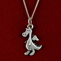 Dragon necklace by StickManJewelry on Etsy