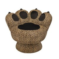 Amazon.com: LumiSource Paw Chair, Leopard: Home & Kitchen