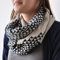 LOOP SCARF  triangle by bookhouathome on Etsy