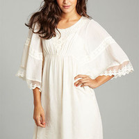 Leigh Embroidered Kimono Dress at Alloy