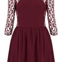 Lace Bodice Flippy Dress - Fit & Flare Dresses - Dresses  - Clothing