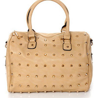 Like, Tote-ally Studded Beige Tote