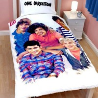 One Direction 'Crush' Panel Single Bed Duvet Quilt Cover Set