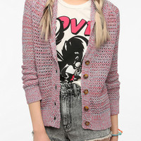 BDG Shawl Collar Crochet Cardigan