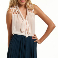 Short Pleated Chiffon Skirt $18