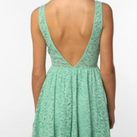 UrbanOutfitters.com &gt; Pins and Needles Lace Deep V-Back Dress
