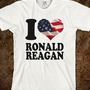 I heart American Flag Ronald Reagan T-Shirt - Republican Party t shirts