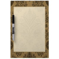 Antique Lace Brown Dry Erase Boards from Zazzle.com