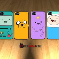 IPHONE 5 CASES -- Adventure time 4 case set Beemo, Jake, Finn, Lumpy iPhone 5 Black or White Hard case.