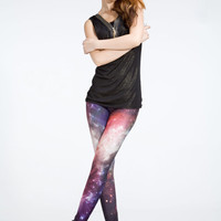 SALE Women Stylish Spandex Cool Galaxy Leggings Red & Blue
