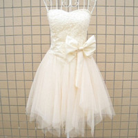 Aline Sweetheart Sleeveless Short/Mini Satin Tulle by kissbridal
