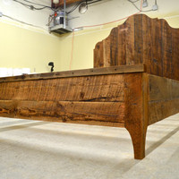 Rustic Salvaged Oregon Barn Wood Bed