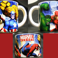 Marvel Heroes Collector&#x27;s Coffee Mug Spiderman Hulk Captain America Daredevil | eBay