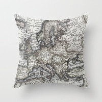 Old World Map Throw Pillow by Upperleft Studios | Society6