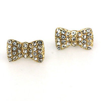 Charydin Bow Earrings - Bliss Salon and Boutique