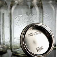 "Ball Mason 6-1/2"" Jars Wide Mouth ( Case of 12) $14.40"