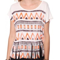 Forever 21 Tribal Fringe top