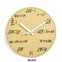 Geek Math and Science Pop Quiz Wall Clock