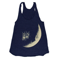 Moon Cats Tank  Medium by burgerandfriends on Etsy