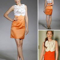 Satin Sheath/ Column Jewel Short/ Mini Cocktail Dress inspired by Blair in Gossip Girl co1105 - Celebrity Dresses - Apparel