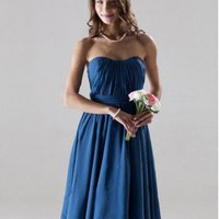 A-line Sweetheart Knee-length Chiffon Over Mading Bridesmaid/ Gossip Girl Fashion Dress co1156 - Celebrity Dresses - Apparel