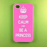 Iphone 4 Case - Keep Calm Be Princess Iphone Case, Iphone 4s Case