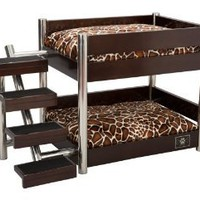 Amazon.com: LazyBonezz Metropolitan 4-Step Pet Bunk Bed, Espresso: Pet Supplies