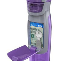 Contigo AUTOSEAL Kangaroo Water Bottle with Storage Compartment, 24-Ounce, Purple:Amazon:Kitchen & Dining