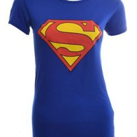 Amazon.com: VIP Womens Superman T Shirt Top: Clothing