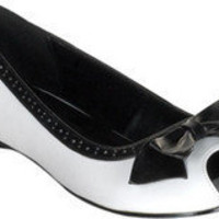Demonia Daisy 64 - White/Black PU - Free Shipping & Return Shipping - Shoebuy.com