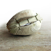 Book of the Sea - Handstitched Clamshell Book Sculpture