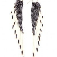 NOIR FRINGE EARRINGS - REJOICE THE HANDS - EARRINGS