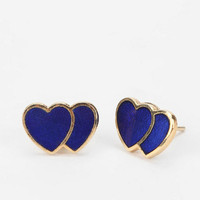 Diament Jewelry For Urban Renewal Double Heart Earring