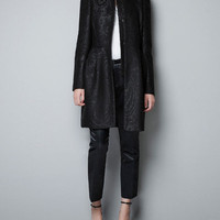 JACQUARD COAT WITH GATHERED WAIST - Coats - Woman - ZARA United States