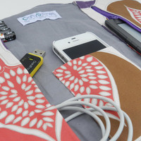 Gadget Cellphone Techi Travel Roll and Charging Pocket - Pick your own fabrics
