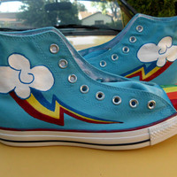 ANY SIZE Any Character My Little Pony Cutie Mark Custom Painted  Shoes
