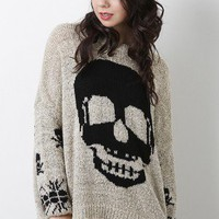 Rhythmic Skull Sweater