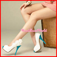 Women's White Stiletto P...