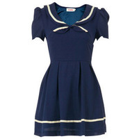 Louche Joy navy blue sailor nautical dress S M 8 10 lolita kawaii cosplay school