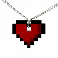 ShanaLogic.com - 100% Handmade &amp; Independent Design! 8-bit Heart Necklace - Best Sellers