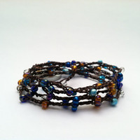 Beaded Crochet Wrap Bracelet by Jennasjewelrydesign on Etsy